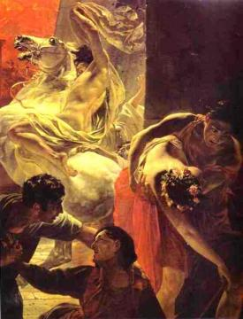 The Last Day of Pompeii (detail 4) Artwork by Karl Pavlovich Bryullov