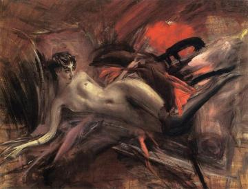 Reclining Nude Artwork by Giovanni Boldini