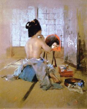 Geisha at Her Toilet Artwork by Robert Frederick Blum