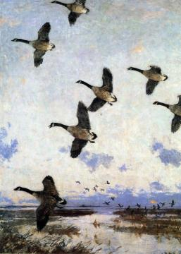 Against The Morning Sky Artwork by Frank W. Benson