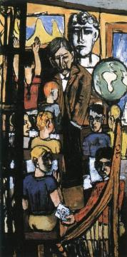 Beginning (Triptych - Right Panel) Artwork by Max Beckmann