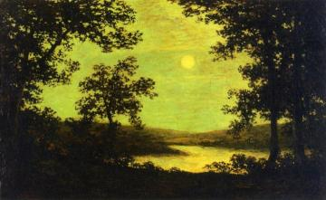 Moonlight On The Columbia River Artwork by Ralph Albert Blakelock