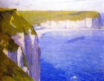 Cliffs At Yport Artwork by Charles Conder