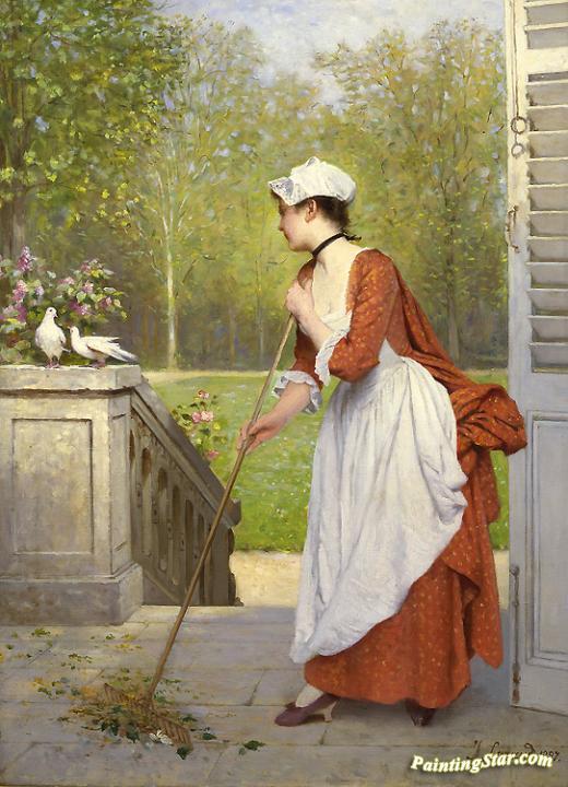 The Love Birds, Art Painting by Joseph Caraud