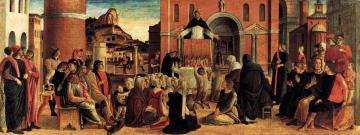 Polyptych of San Vincenzo Ferreri (predella) Artwork by Giovanni Bellini