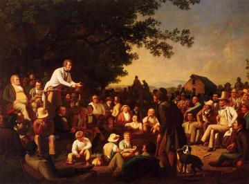 Stump Speaking Artwork by George Caleb Bingham