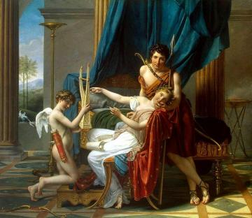 Sappho And Phaon Artwork by Jacques Louis David