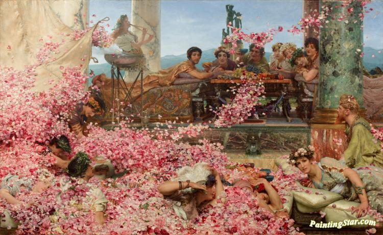 The Roses Of Heliogabalus Artwork by Sir Lawrence Alma-Tadema