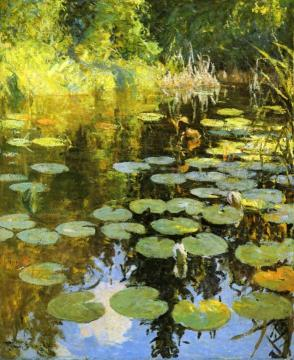 Lily Pond Artwork by Frank W. Benson