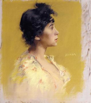 Flora de Stephano, The Artist's Model Artwork by Robert Frederick Blum