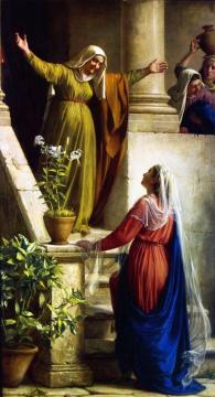 The Meeting of Mary and Elizabeth Artwork by Carl Heinrich Bloch