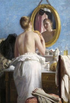 Woman at her Toilette Artwork by Carl Heinrich Bloch