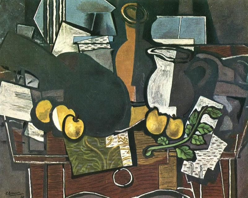 Guitar, Fruit and Pitcher Artwork by Georges Braque