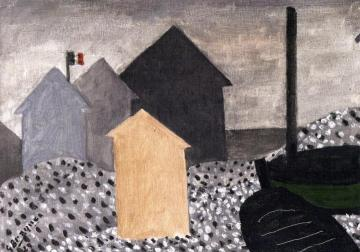 Cabins with Flags Artwork by Georges Braque