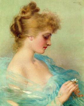 He Loves Me, He Loves Me Not Artwork by Vittorio Matteo Corcos