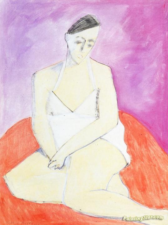 White Chemise Artwork by Milton Avery