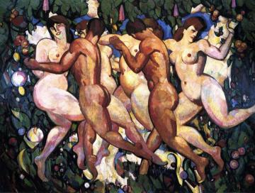 Les Eus Artwork by John Duncan Fergusson