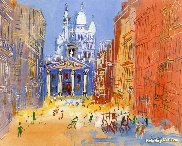 Paris Rue Lafitte Artwork By Jean Dufy Oil Painting Amp Art