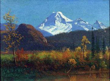 Mt. Rainier from the Southwest Artwork by Albert Bierstadt