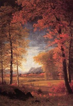 Autumn In  America, Oneida County, New York Artwork by Albert Bierstadt