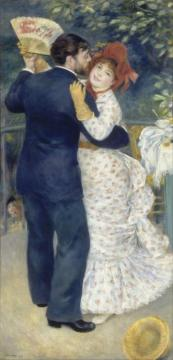 Country Dance Artwork by Pierre Auguste Renoir