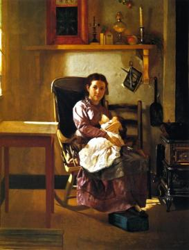 The Young Mother Artwork by John George Brown