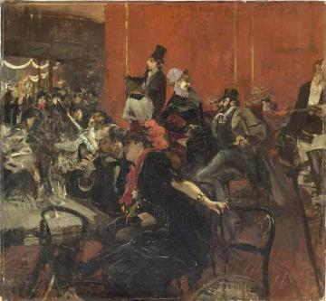 Scene De Fete Au Moulin Rouge Artwork by Giovanni Boldini