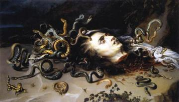 The Head of Medusa Artwork by Peter Paul Rubens