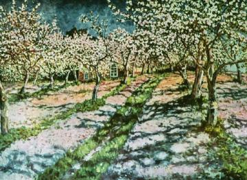 Apple Garden in Bloom Artwork by Nikolai Petrovich Bogdanov-belsky