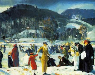 Love Of Winter Artwork by George Wesley Bellows