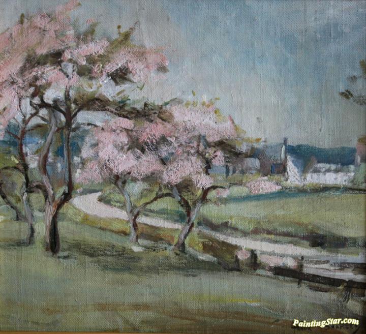 Cherry Blossom Art Painting