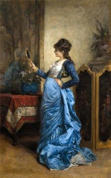 Reflection of Beauty Artwork by Auguste Toulmouche