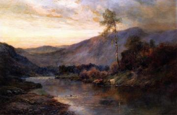The River Teith through the Trossachs Artwork by Alfred de Breanski, Sr.