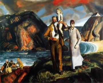 Fisherman's Family Artwork by George Wesley Bellows
