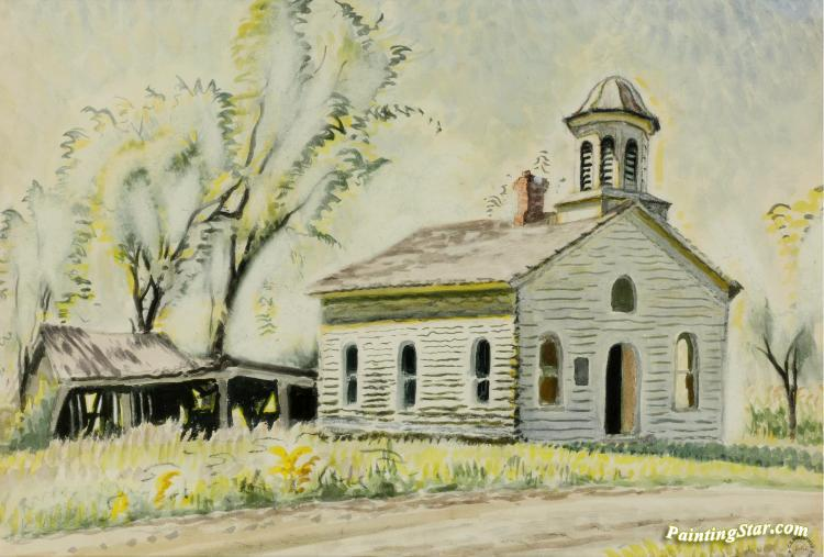Church North Of East Otto Artwork by Charles Burchfield