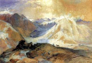 Mosquito Trail, Rocky Mountains of Colorado Artwork by Thomas Moran