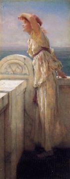 Hopeful Artwork by Sir Lawrence Alma-Tadema