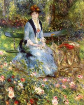 Among the Roses Artwork by Pierre Auguste Renoir