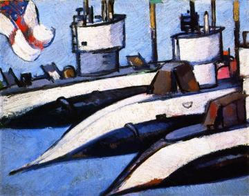 Three Submarines Artwork by John Duncan Fergusson
