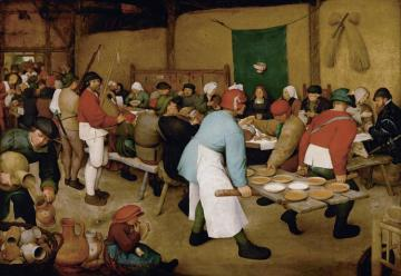 Peasant Wedding Artwork by Pieter Bruegel the Elder