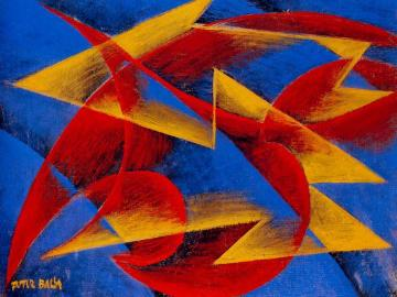 Line of speed + form + noise Artwork by Giacomo Balla