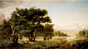 Indian Encampment Along The Snake River Artwork by Ralph Albert Blakelock