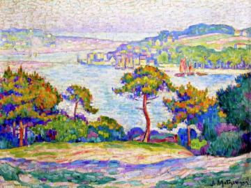 Brittany Seashore Artwork by Jean Metzinger