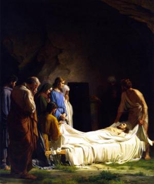 The Burial Artwork by Carl Heinrich Bloch