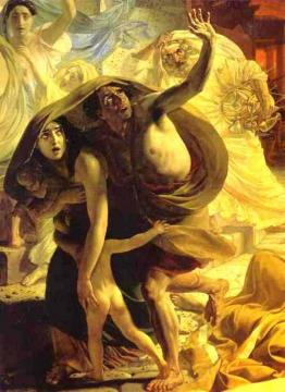 The Last Day of Pompeii (detail 2) Artwork by Karl Pavlovich Bryullov