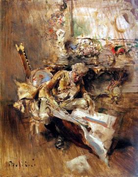 The Art Connoisseur Artwork by Giovanni Boldini