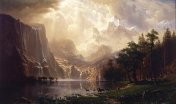 Among The Siera Navada Mountains, California Artwork by Albert Bierstadt