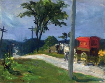 Country Road Artwork by John Sloan