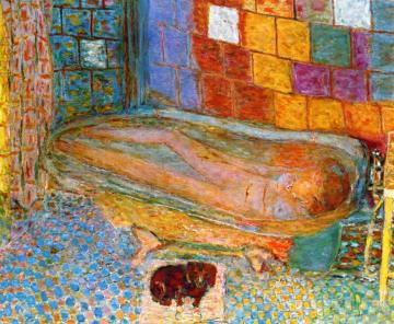 Nude In Bathtub Artwork by Pierre Bonnard