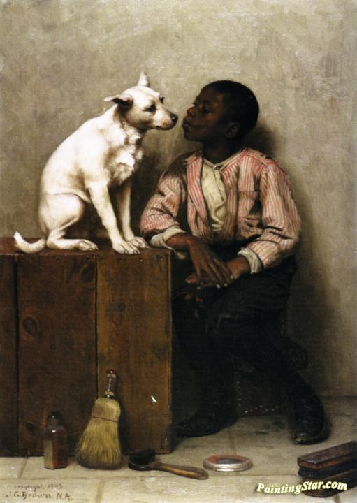 Color No Objection Artwork By John George Brown Oil
